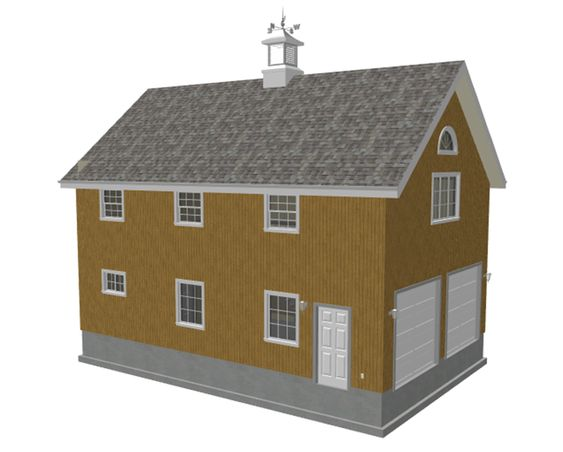 Barn plans construction and barns on pinterest for Two story pole barn homes