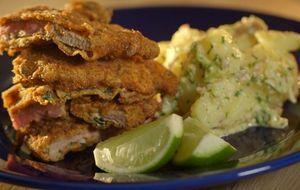 Milanesas marinadas com salada morna de batatas e limão - Que Carne Usar - GNT