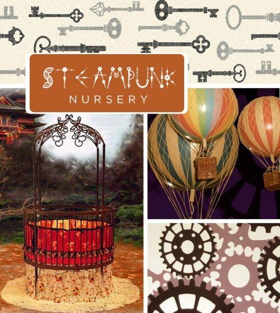 DearMissKara's nursery contest spam (create a name for the baby who lives there) - Steampunk - my name was Lucien Oscar