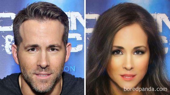 Gender-Swapped Snapchat Filter Ryan Reynolds