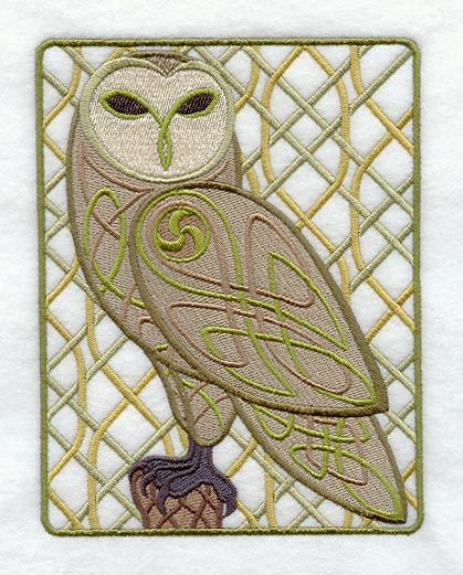 Celtic, Owl And Machine Embroidery On Pinterest