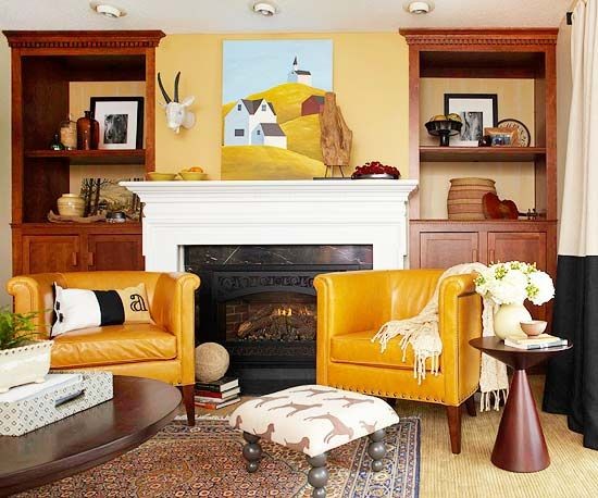We love this Southwestern-chic living room space: http://www.bhg.com/rooms/living-room/makeovers/multipurpose-living-room-tour/?socsrc=bhgpin012914piecedtogether