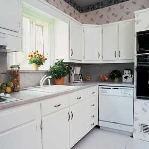 Reface or replace cabinets old houses kitchen cabinets for Cabinet refacing price range