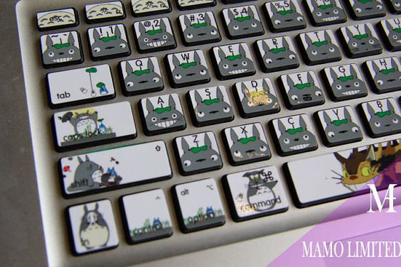 TOTORO Macbook decal Macbook Keyboard Decal Macbook by MaMoLIMITED, $13.99: