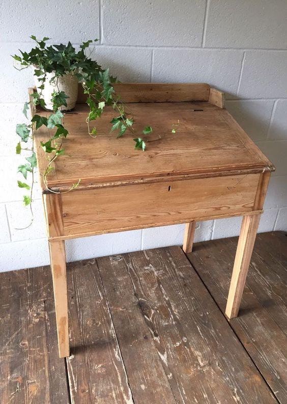 Vintage Antique Pine Clerk's Desk, Hall, Restaurant, Shop Fitting  | eBay