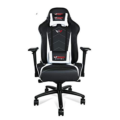 Gt Omega Pro Xl Racing Office Chair Black And White Leather Esport