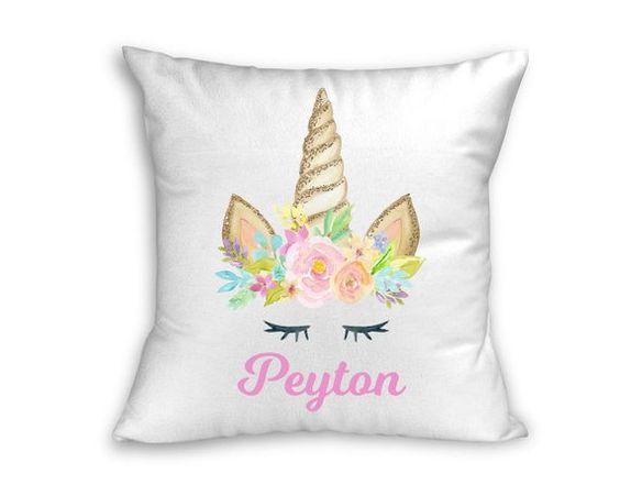 Personalised Unicorn Pillowcase Cushion Pillow Case Cover Custom Present Girl