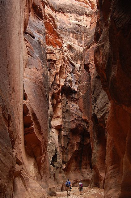 Buckskin Gulch, southern Utah - reputed to be the deepest, darkest and narrowest slot canyon in North America.  en.wikipedia.org/...