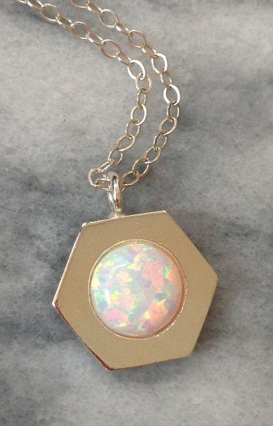 Opal Hex Necklace #lakaiser