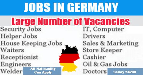 Multiple Vacancies In Germany Helper Jobs Sales And Marketing