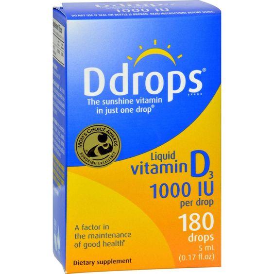 D Drops Liquid Vitamin D3 - 1000 Iu - 0.17 Fl Oz