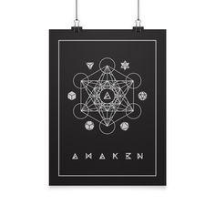 Sacred Geometry Poster by AWAK3N