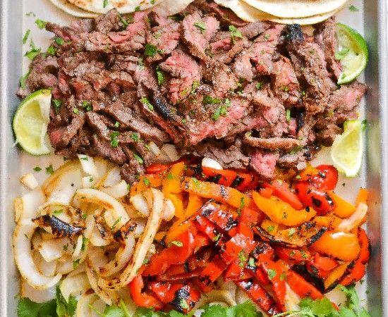 Summer Grilling skirt steak fajitas