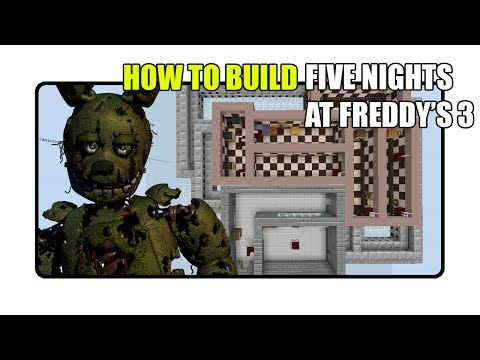 How To Build Five Nights At Freddy S 3 Map In Minecraft Fnaf 3 Map Youtube Five Nights At Freddy S Fnaf Five Night