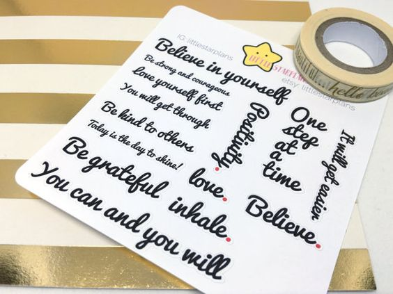 Motivation for Success Quotes, Go Getter Planner Stickers fits Happy Planners, Erin Condren, A5 Planner