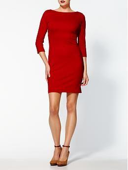 Oswin dress? Not a cowl-enough neckline, but good color & sleeve length
