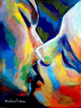 """""""Oneness"""" (2014), pintura da artista argentina Helena Wierzbicki. Veja também: http://semioticas1.blogspot.com.br/2013/06/silencio-de-hopper.html:"""