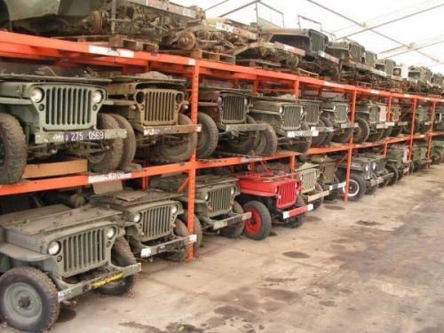 "oldschoolgarage: "" Jeep warehouse,location unknown â€"