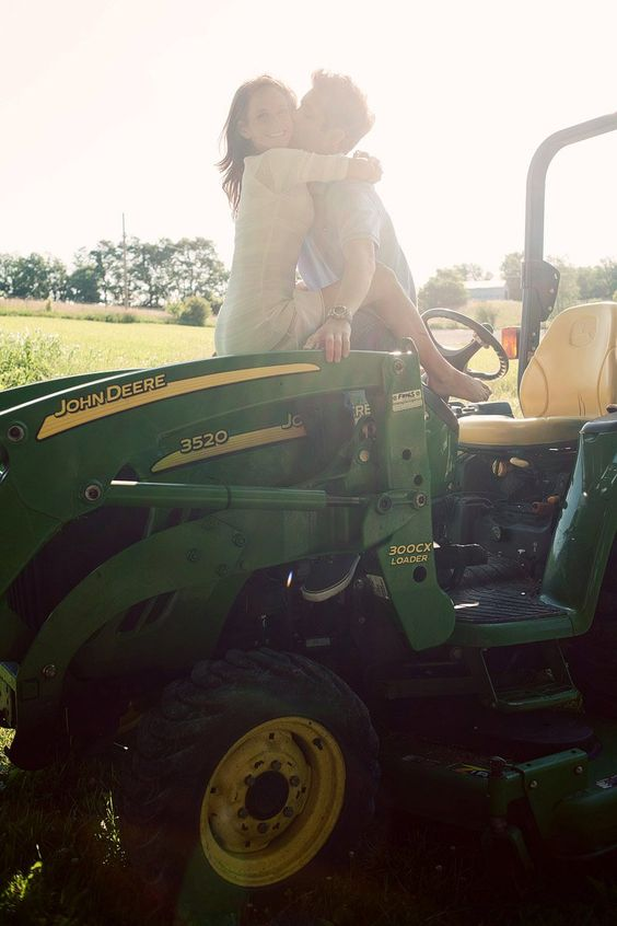 She thinks my tractors sexy (: