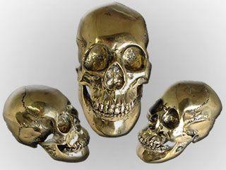 Teschio in metallo decorativo da vetrina ,  Teschio in Alluminio da esposizione , Teschio Heavy Metal , Metal Skull , Skull Jewellery , Skull