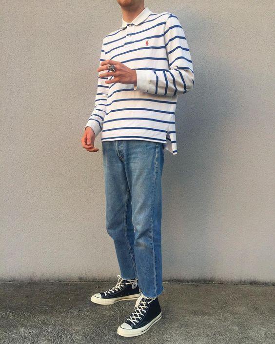 Retro Men Outfit Men Shoes Di 2020 Model Baju Pria Pakaian Kasual Pria Gaya Pria