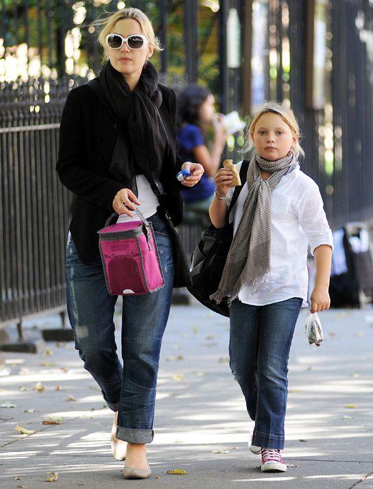Kate Winslet and Daughter Mia Honey Threapleton