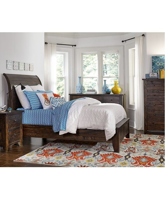 Ember 3 Piece Queen Bedroom Furniture Set Only At Macy 39 S With Dresser Shops Products And Beds