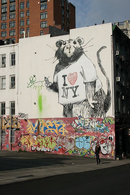 Banksy nyc and rats on pinterest for Banksy rat mural