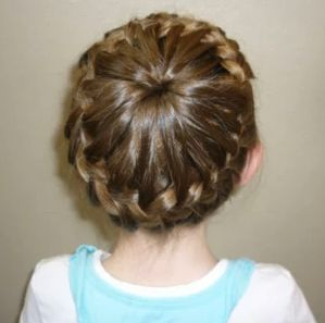 french braid bun hair style with step by step http ...