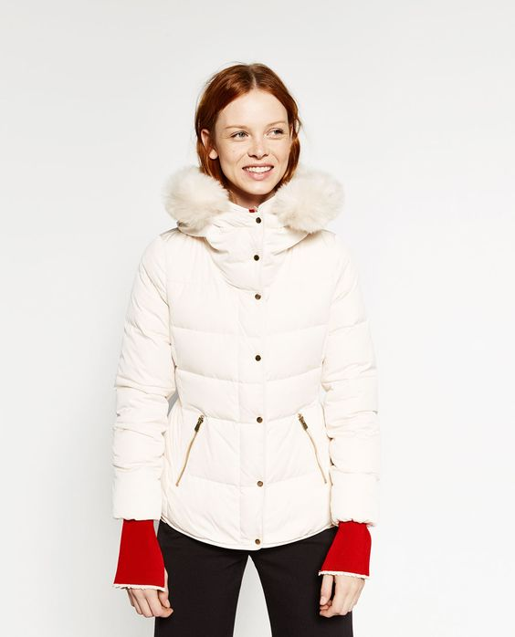 SHORT ANORAK WITH HOOD-Quilted Coats-OUTERWEAR-WOMAN | ZARA United States