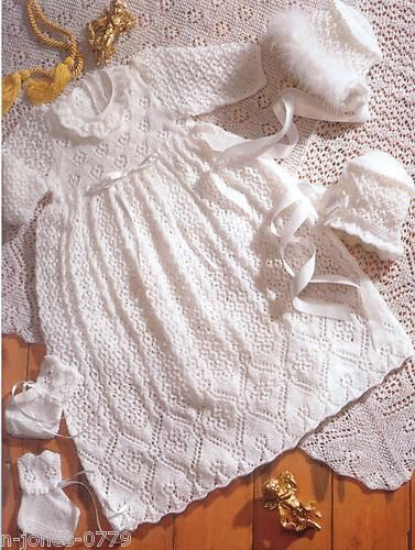 Knitting patterns for babies, Vintage knitting and Baby christening on Pinterest
