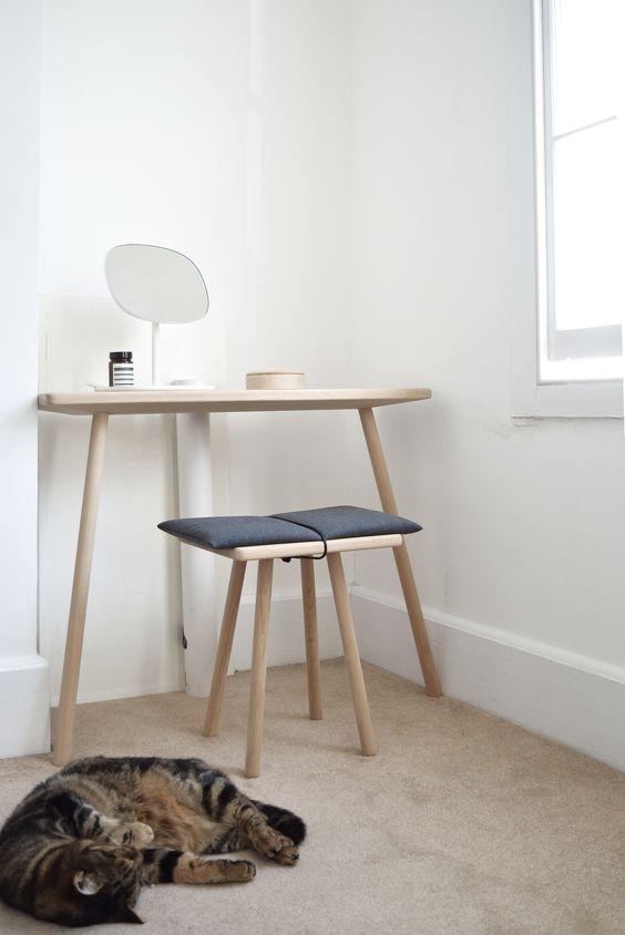 minimal Scandinavian bedroom corner