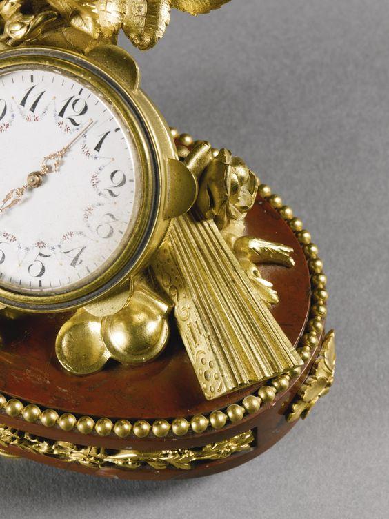 FRANÇOIS LINKE 1855 - 1946 A GILT-BRONZE AND ROUGE DE FRANCE MARBLE TIMEPIECE, PARIS, LATE 19TH CENTURY, INDEX NUMBER 86, AFTER A DESIGN BY LÉON MESSAGÉ