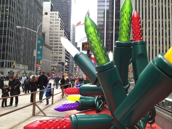 Giant Christmas lights in NYC! | City Ideas | Pinterest ...