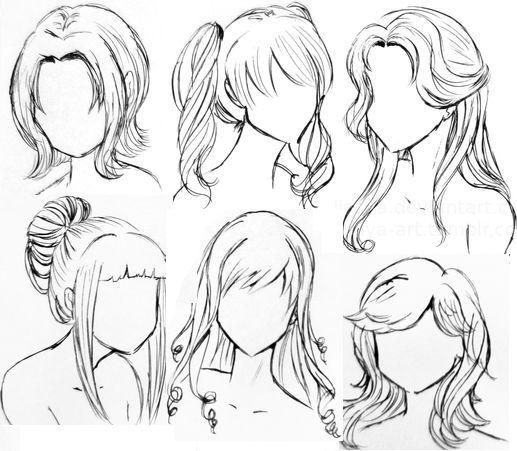 Today Pin Dessin De Cheveux Coiffures Manga Dessin Coiffure