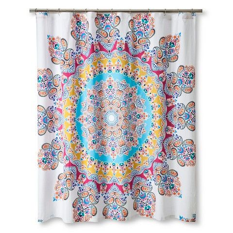 Gypsy Rose Shower Curtain Multi Colored Boho Boutique