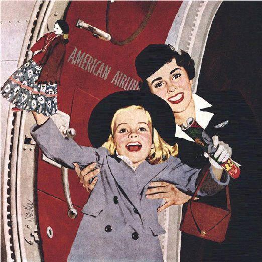 Al Parker (1906 – 1985, American) Stewardess