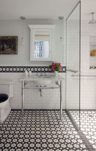 Angie Helm Interior Design  Design crush  Liz Caan  middot  Tiles Floors BacksplashMosaic FlooringBlack And White Bathroom. Angie Helm Interior Design  Design crush  Liz Caan   Bathroom