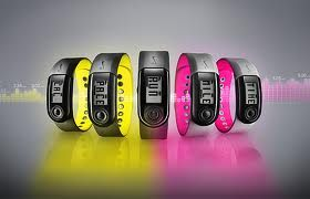 Nike + Sport band/ fuel band £45 -  An ideal gadget for any runner. Put the chip under your laces (or in your shoe if you have the specialised trainers) and with a simple click on the wristwatch, you're ready to go. The watch tracks your heart rate, distance and calories burnt after each run. Once finished, the watch face pulls out to reveal a handy USB stick for you to upload your data from your laptop onto your Nike + profile.