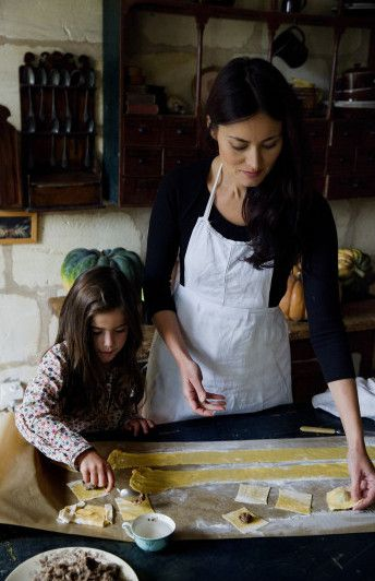 This reminds me of young Jael and her mom. Her mother makes and sells pasta for a profit.: