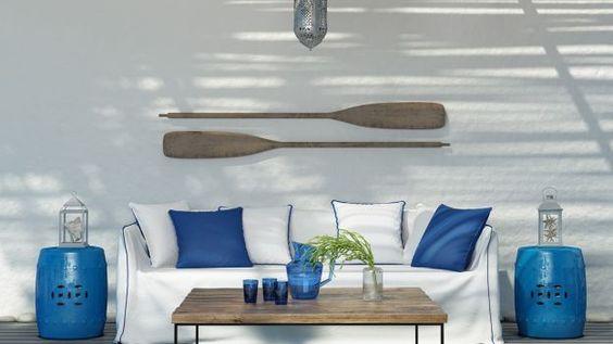 Arredare le stanze di casa propria in stile marino per introdurre nell'ambiente domestico l'atmosfera e i colori del mare e di tutto il suo mondo