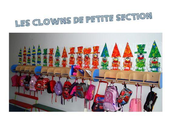 Des petits clowns en ps cartes pinterest clowns and ps - Decoration porte manteau ecole ...