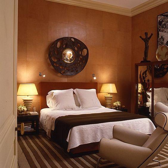 Guest room in Alberto Pintou0027s Paris apartment chambre Pinterest