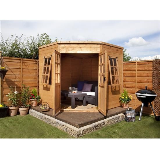 wickes corner shed shiplap shed 8x8 wickescouk garden pinterest pergolas and doors