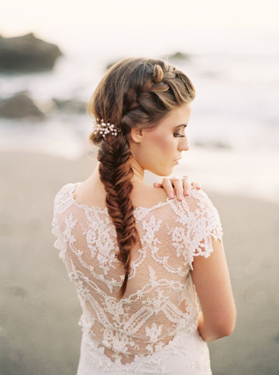 fishtail wedding hairstyle : itakeyou.co.uk: