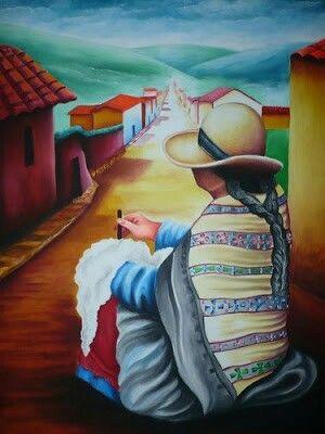 Pin by mabe aparicio on pintura pinterest for Cuadros mexicanos rusticos