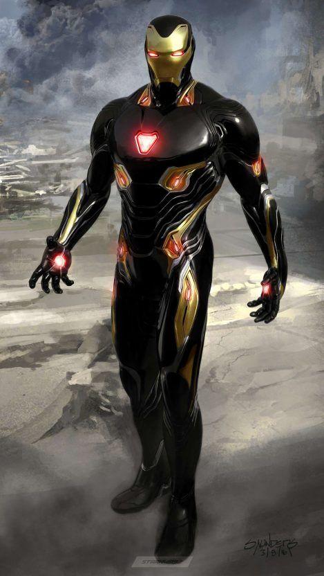 Black Armor Iron Man Iphone Wallpaper Iron Man Avengers Iron Man Armor Iron Man Art Iron man wallpaper new suit