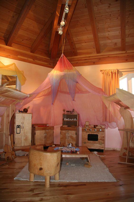Rose Play Canopy from Sarah's Silks. www.bellalunatoys.com