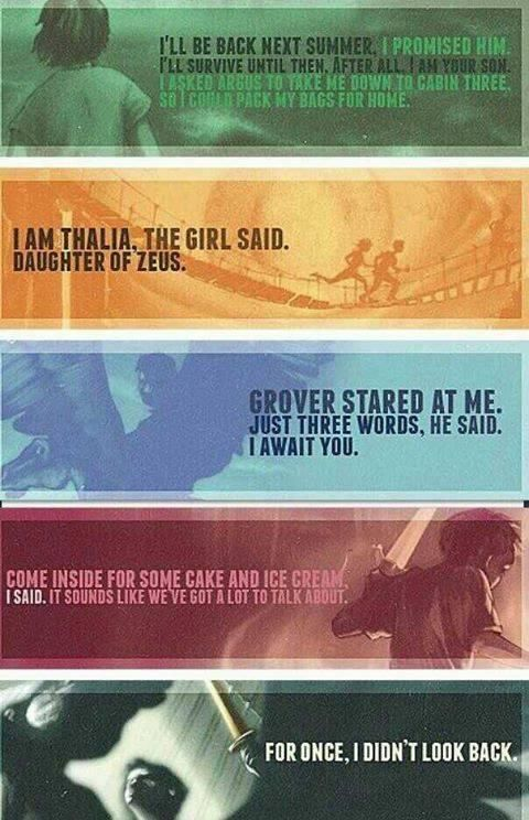 The last words from all the Percy Jackson series: