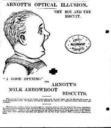 1902 Arnott's Optical Illusion